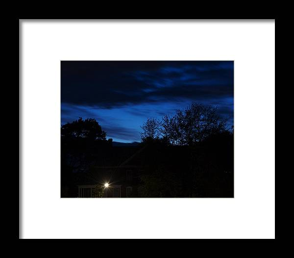 Silhouette Framed Print featuring the photograph Dusk by Faith Harron Boudreau