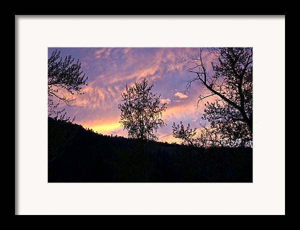 Framed Print featuring the photograph Dusk by JK Photography