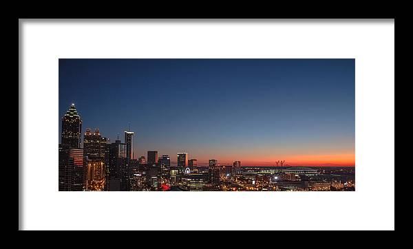 Atlanta Framed Print featuring the photograph Dusk by Mike Dunn