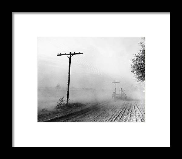 1936 Framed Print featuring the photograph Dust Bowl, C1936 by Granger