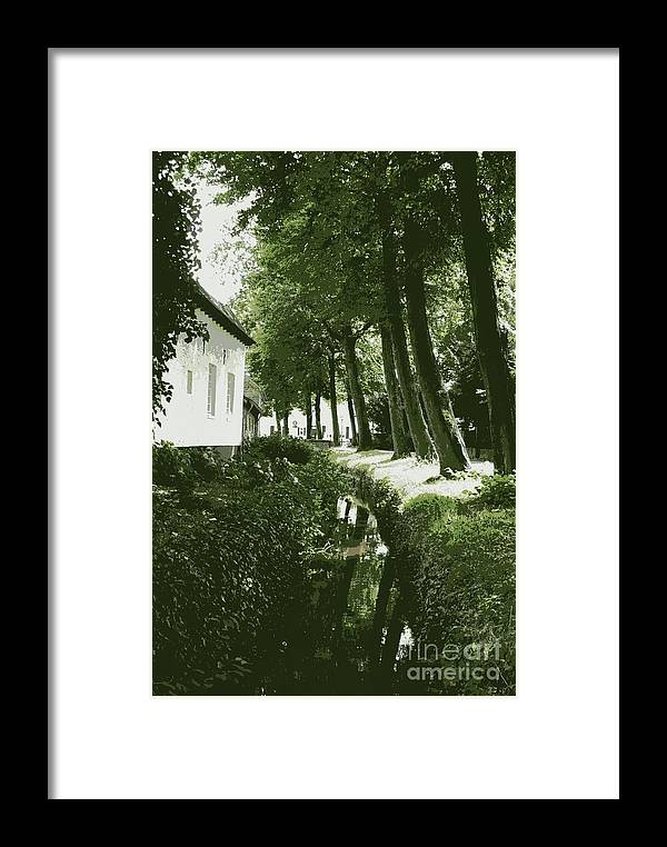 Dutch Framed Print featuring the photograph Dutch Canal - Digital by Carol Groenen