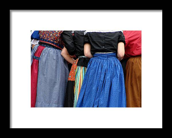 Dutch Framed Print featuring the photograph Dutch Dancers In A Huddle by Michelle Calkins