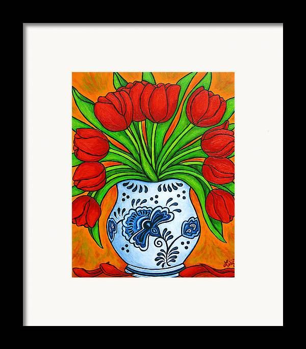 White Framed Print featuring the painting Dutch Delight by Lisa Lorenz