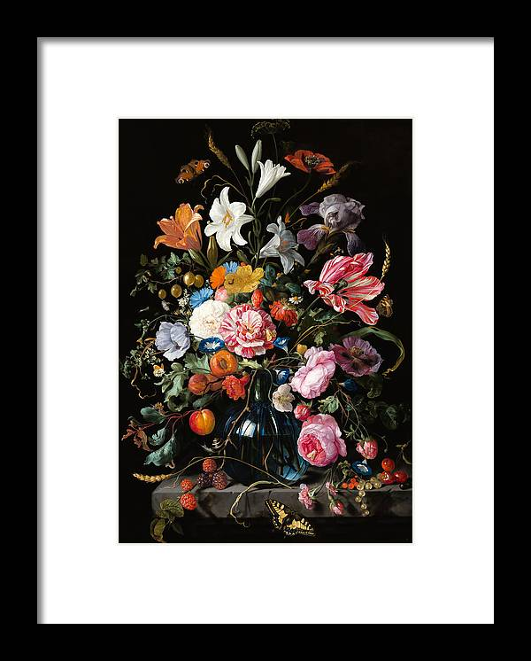Oil Painting Framed Print featuring the painting Dutch Still Life #2 by Vasula Tsongas