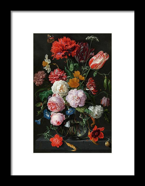 Floral Framed Print featuring the painting Dutch Still Life #3 by Vasula Tsongas