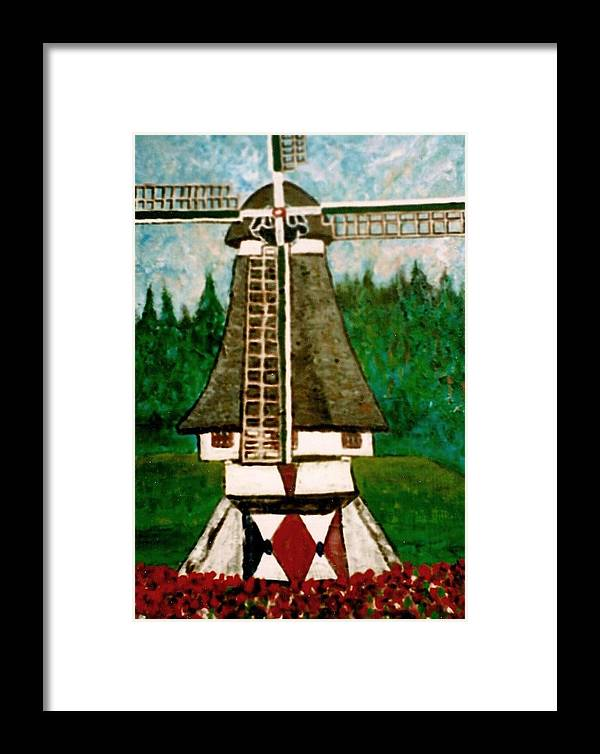 Holland Framed Print featuring the painting Dutch Windmill by Richard Hubal