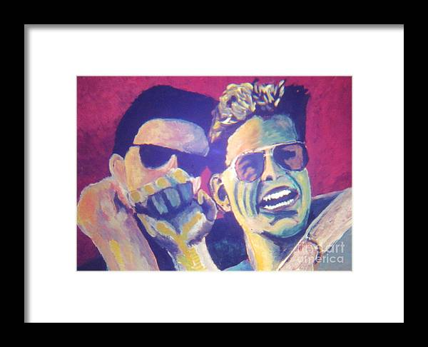 Faces Framed Print featuring the painting Dynamic Balance by Jeff Birr