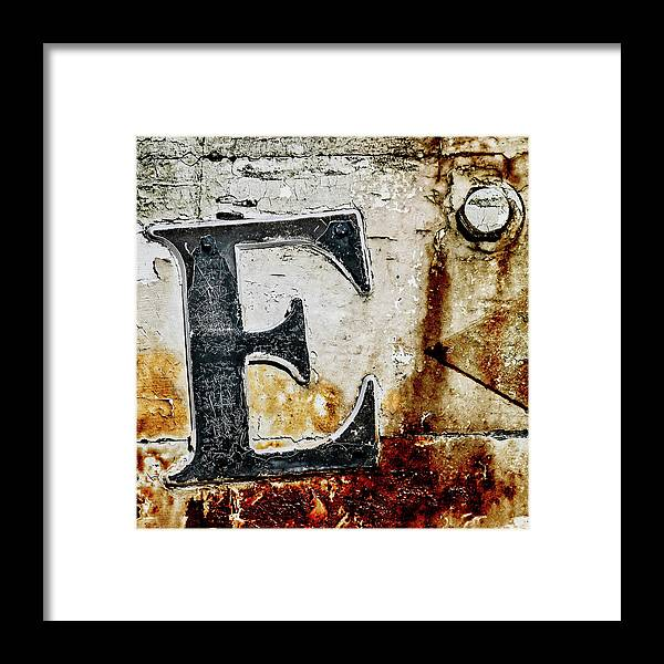 Letter E in the Rust by Carol Leigh