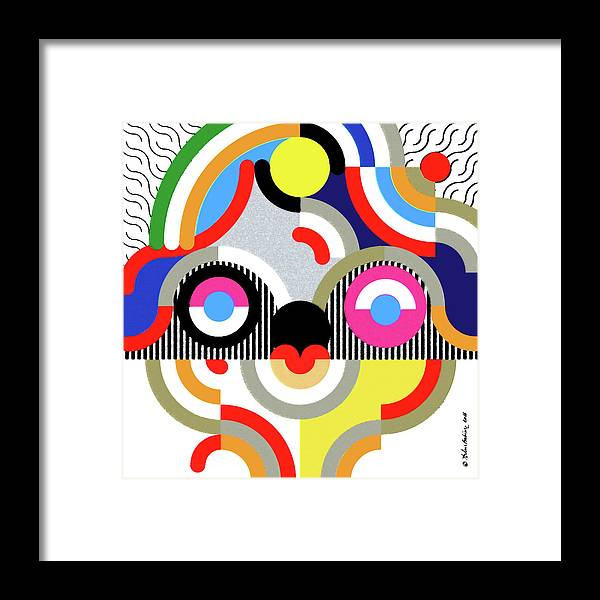 Graphic Framed Print featuring the drawing E Motion - Princess Face 1 by Arthur Babiarz