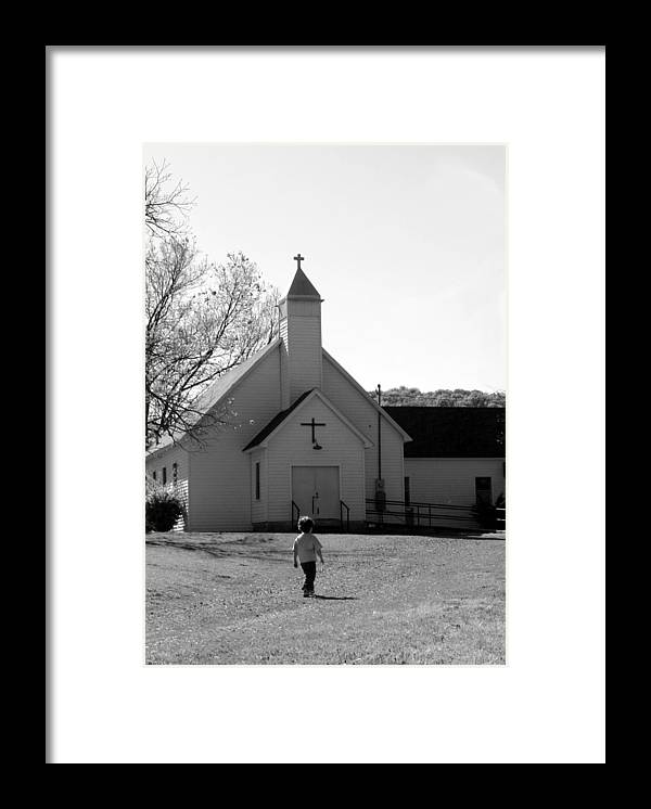 Framed Print featuring the photograph E-to-the-church by Curtis J Neeley Jr