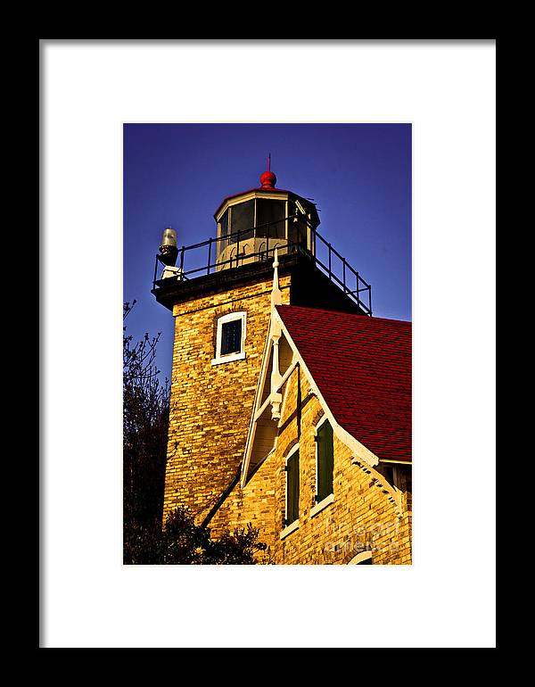 Door County Framed Print featuring the photograph Eagle Bluff Lighthouse Of Door County by Mark David Zahn Photography
