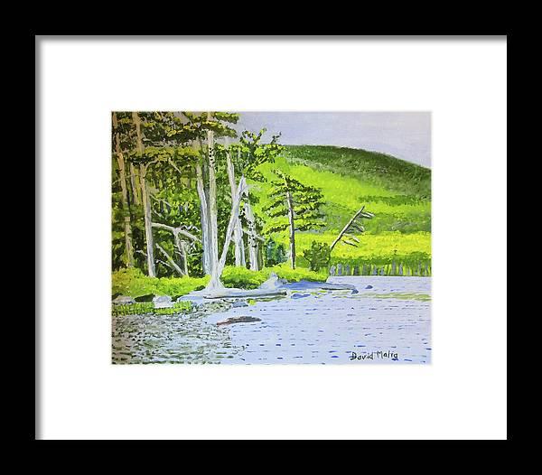 Eagle Lake Framed Print featuring the painting Eagle Lake, Acadia, Maine by David Malia