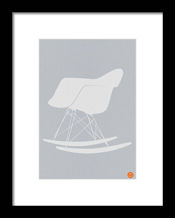 Eames Framed Print featuring the photograph Eames Rocking Chair by Naxart Studio
