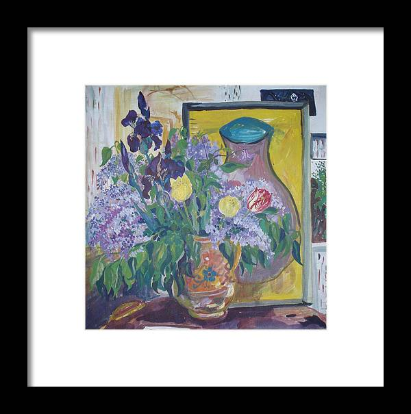 Early May Framed Print featuring the painting Early May by Tamara Zemlyanaya