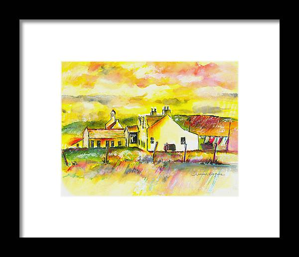 Barn Framed Print featuring the painting Early Morning by Arline Wagner