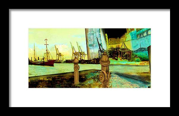 Boat Framed Print featuring the painting Early Morning At The Harbour by Anne Weirich
