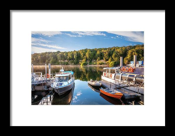 Doubtful Sound Framed Print featuring the photograph Early Morning Cruises To Doubtfull Sound by Daniela Constantinescu