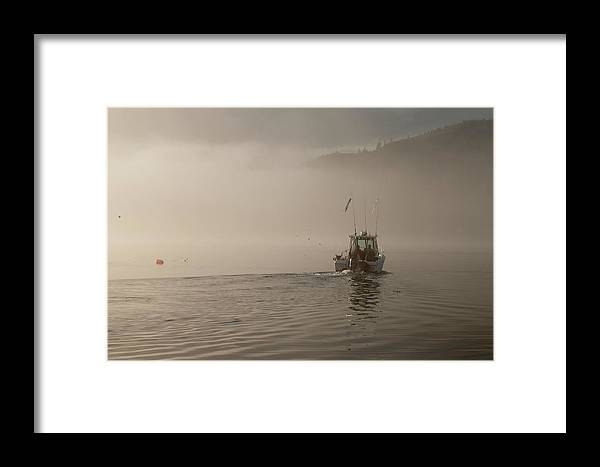 Places Framed Print featuring the photograph Early Morning Fishing Boat by Chad Davis