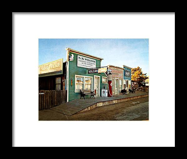 Randsburg Framed Print featuring the photograph Early Morning In Randsburg by Glenn McCarthy Art and Photography