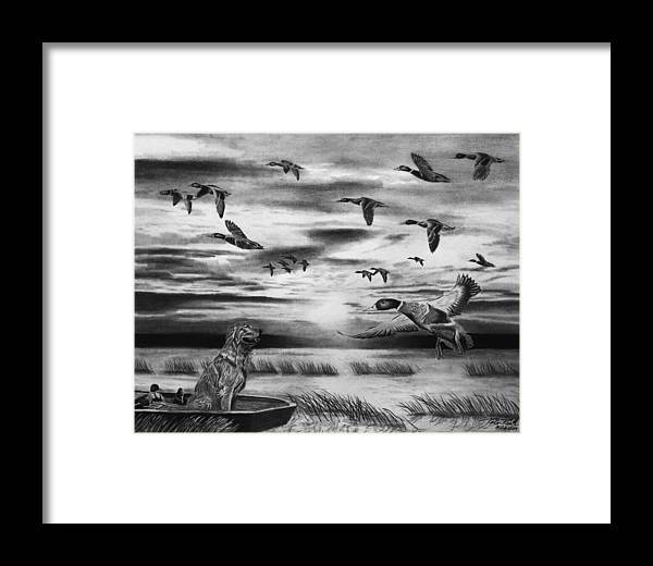 Early Morning Framed Print featuring the drawing Early Morning by Peter Piatt