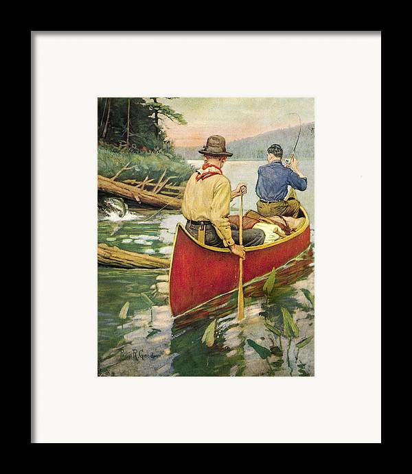 Philip Goodwin Framed Print featuring the painting Early Morning Thrill by JQ Licensing