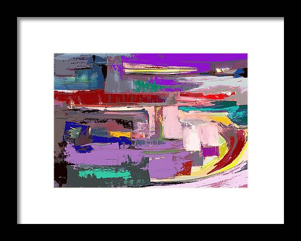 Abstract Framed Print featuring the painting Early Sojourn by Randy Patton