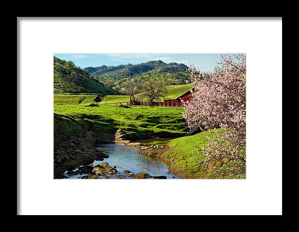Farm Framed Print featuring the photograph Early Spring In The Valley by Kathleen Bishop