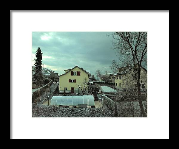 Snow Framed Print featuring the photograph Early Spring Morn by Chuck Shafer