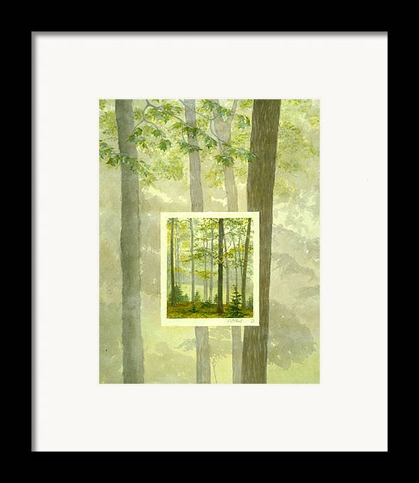 Trees Framed Print featuring the painting Early Spring by Nancy Ethiel