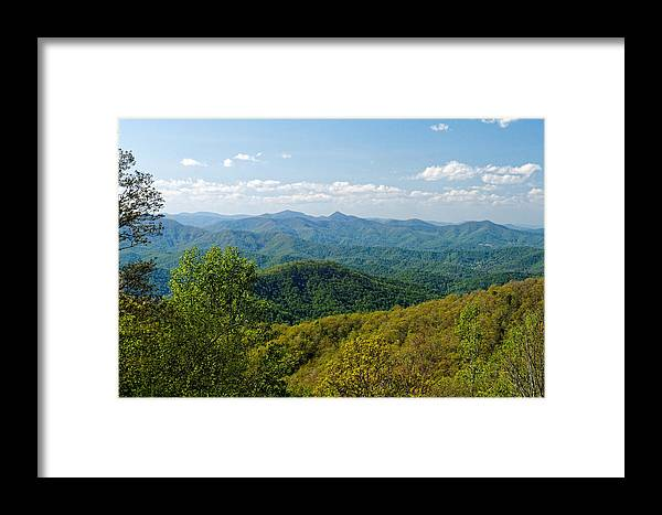 Landscape Framed Print featuring the photograph Early Spring On The Blue Ridge Parkway by David Rowe