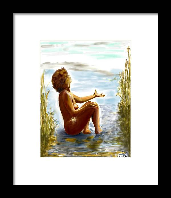Lady Framed Print featuring the digital art Early Summer In Bavaria by Helmut Rottler