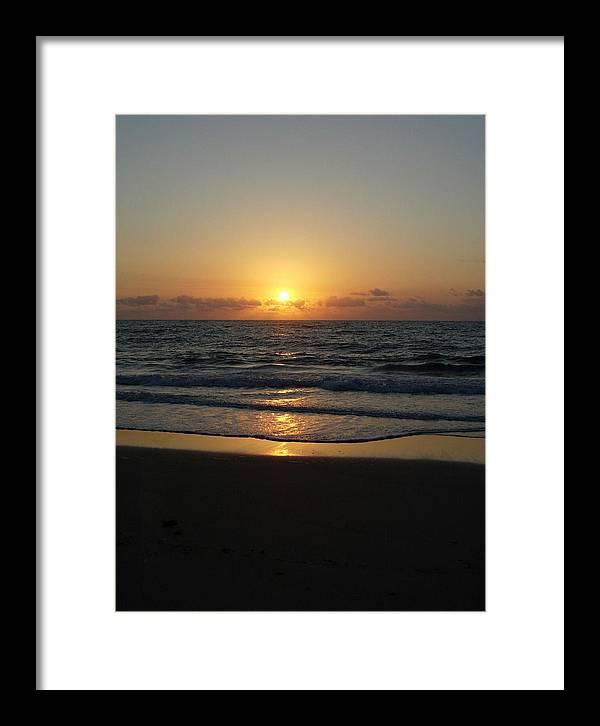 Sunrise Framed Print featuring the photograph Early Sunrise Atlantic Ocean by Stephanie H Johnson