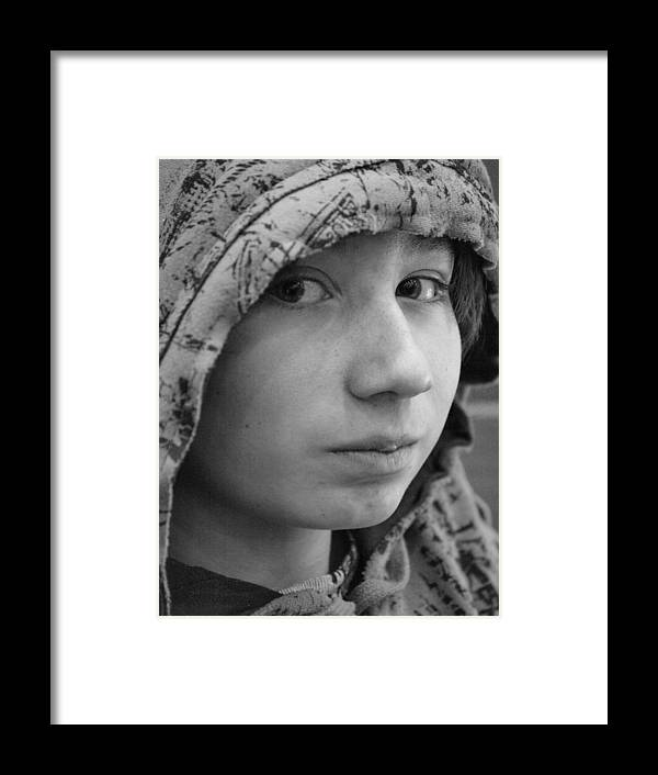 Boy Framed Print featuring the photograph Early Teen Boy by Jennifer Whiteford