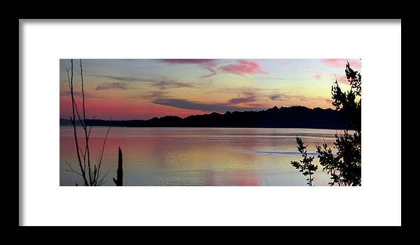 Sunset Framed Print featuring the photograph Early Whidbey Island Sunset by Mary Gaines