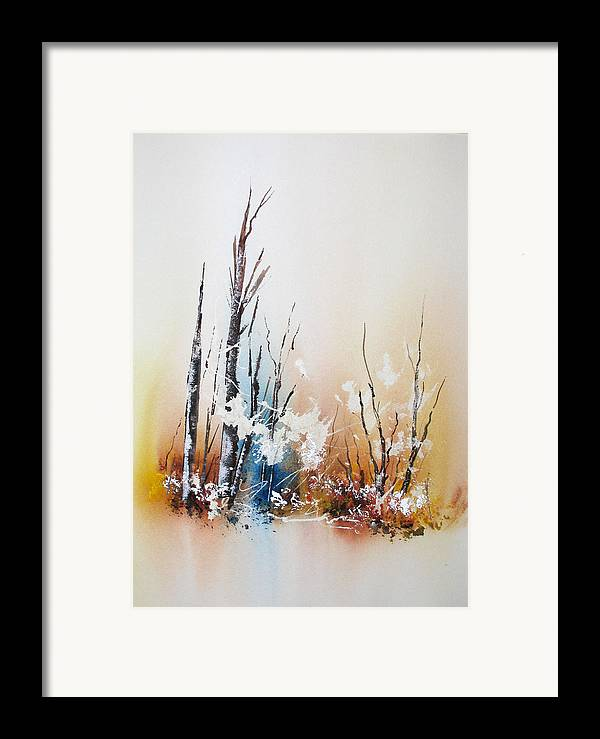 Snowy Scene Framed Print featuring the painting Early Winter by Lynne Parker