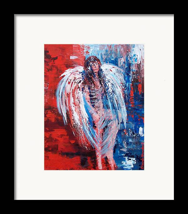 Art Framed Print featuring the painting Earth Angel by Claude Marshall