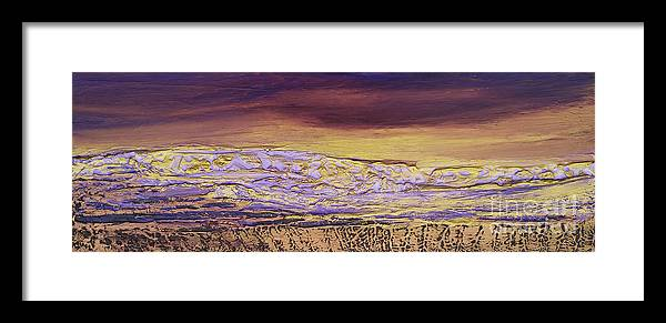Earth Framed Print featuring the painting Earth Art 13 by Pietra Castellani