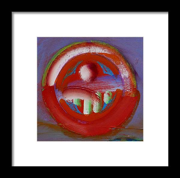 Love Framed Print featuring the painting Earth Button by Charles Stuart