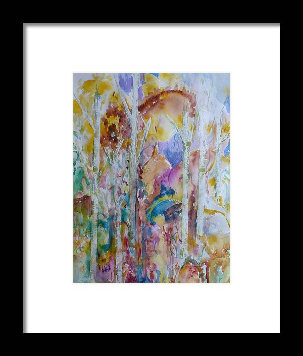 Vibrant Abstract Framed Print featuring the painting Earth Changes and so do I by Phoenix Simpson