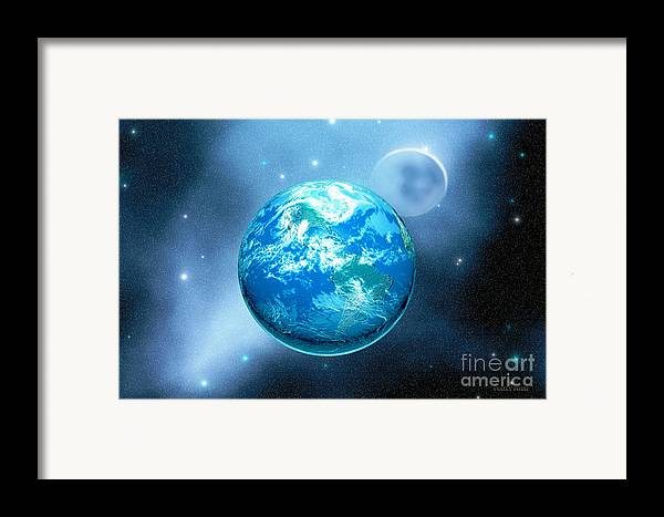 America Framed Print featuring the painting Earth by Corey Ford