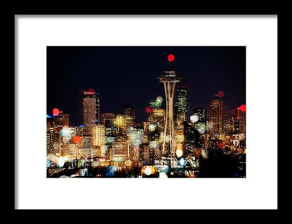 Seattle Framed Print featuring the photograph Earth Hour Spots A354 by Yoshiki Nakamura