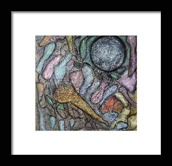 Symbolic Framed Print featuring the painting Earth Moods II Series 1-7 by Patricia High