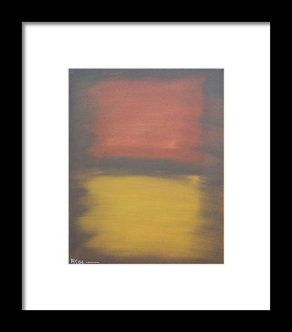 Abstract Framed Print featuring the painting Earth by Rod Schneider