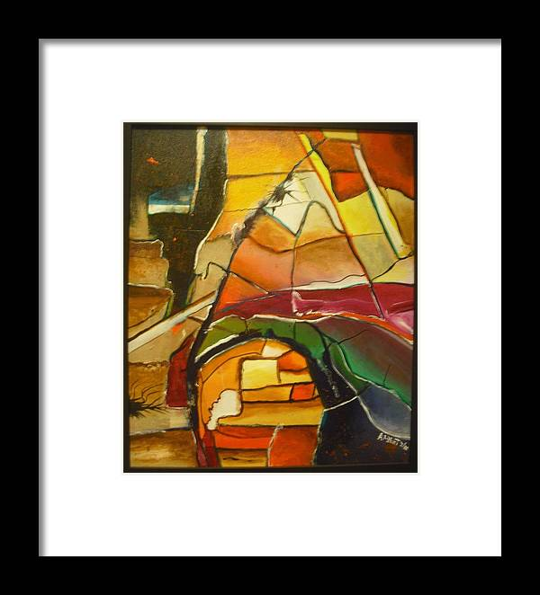 Browns Framed Print featuring the painting Earth Tones by Anthony Hurt