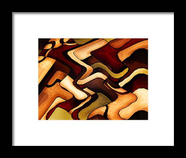 Digital Framed Print featuring the painting Earth Weave by Vicky Brago-Mitchell