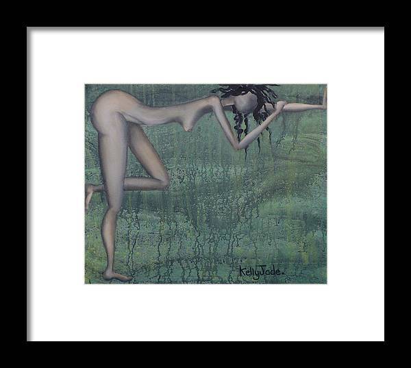 Earth Framed Print featuring the painting Earth Woman by Kelly Jade King