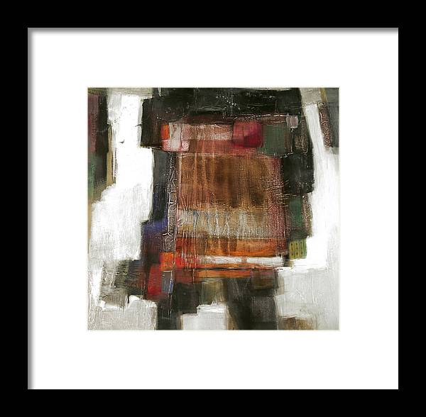 Sketching Framed Print featuring the painting Orange Home by Behzad Sohrabi