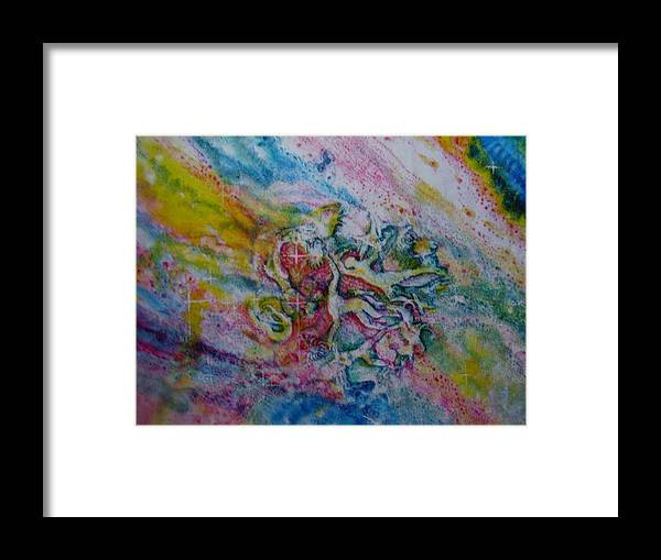 Fantasy Framed Print featuring the painting Earthbound by Chua Jeen Tee