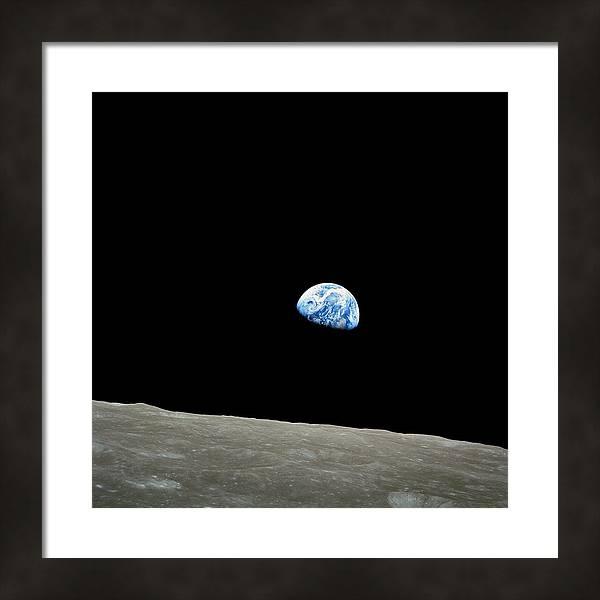 Earthrise - The Original Apollo 8 Color Photograph by Nasa