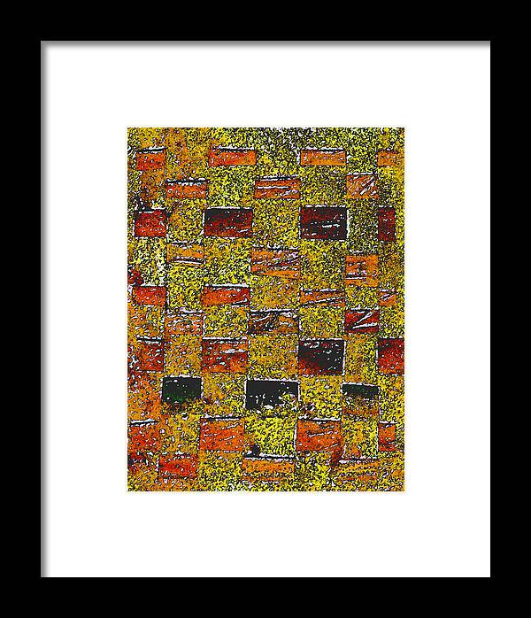 Weaving Framed Print featuring the painting Earths Tapestry by Wayne Potrafka